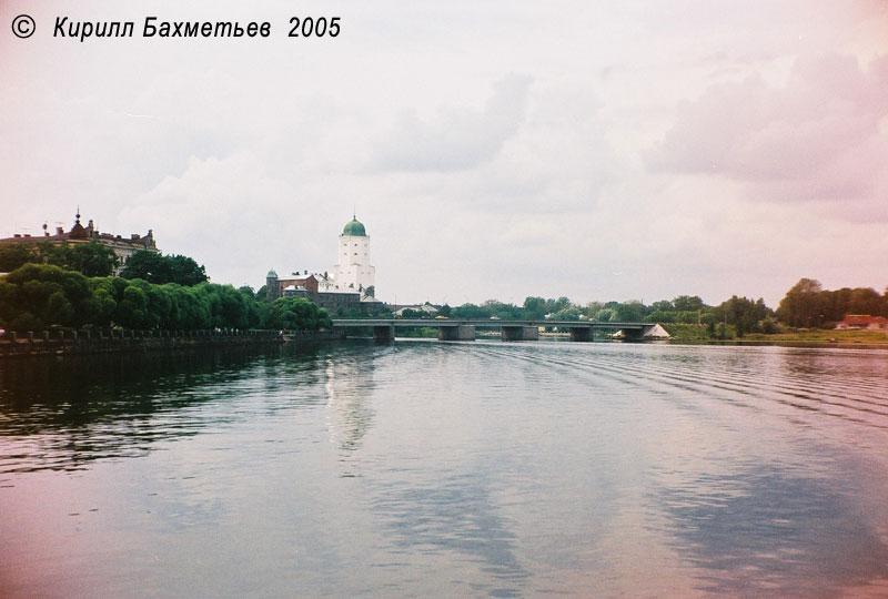 Выборгский замок и Петровский мост через Замковый пролив