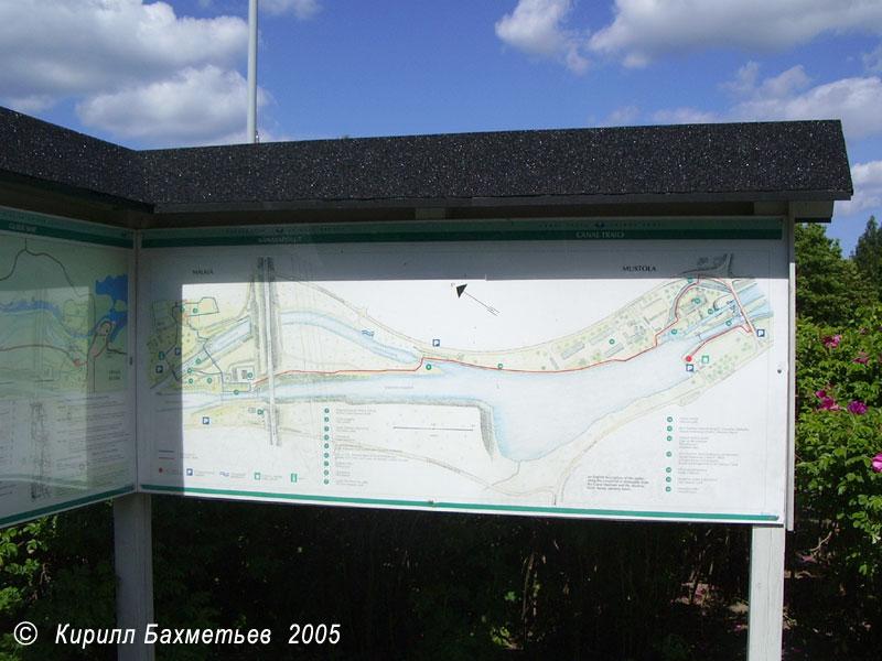 План старого и нового Сайменского канала