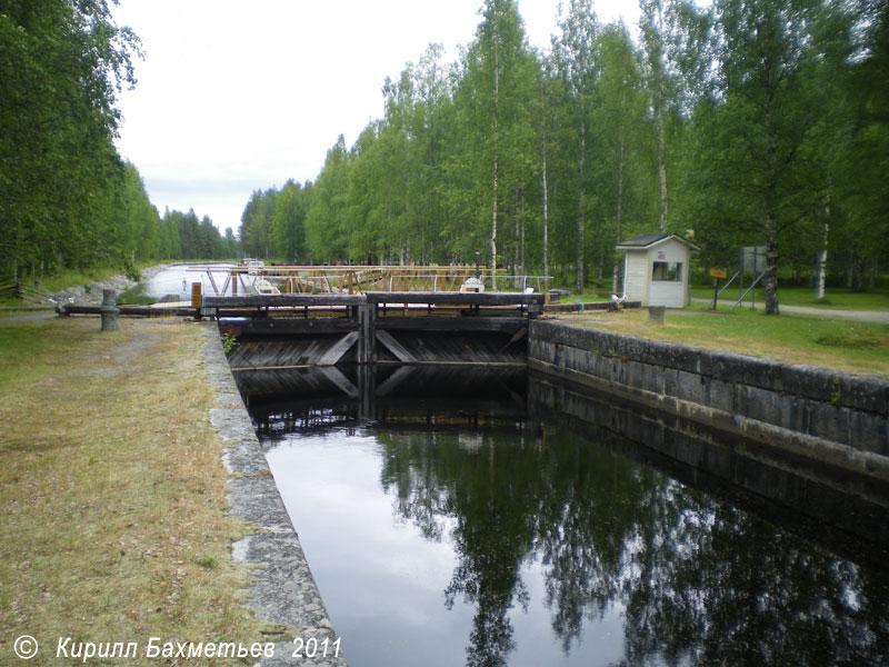 Шлюз на музейном Якокоскинском канале