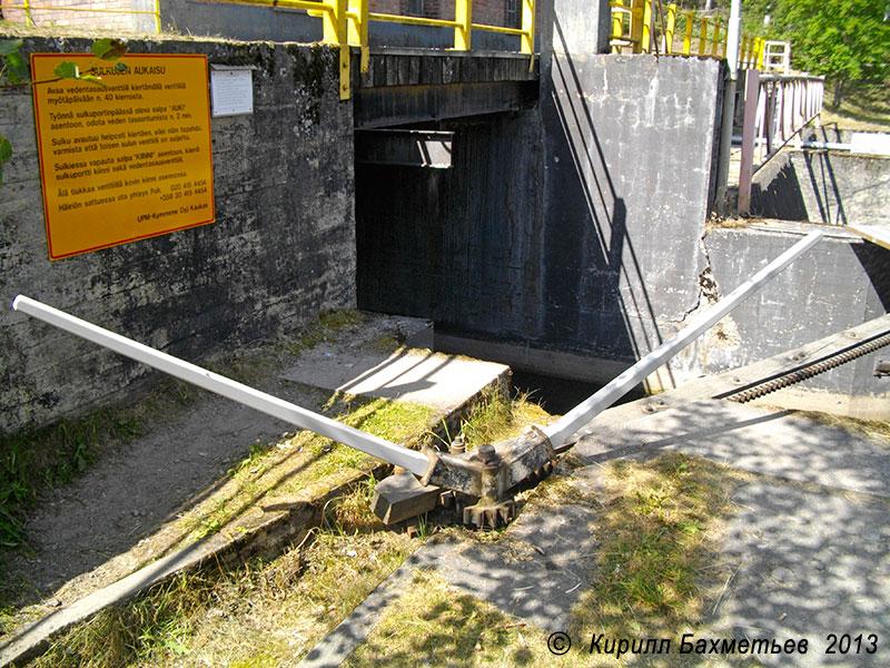 Привод нижних ворот Вехкатайпальского шлюза