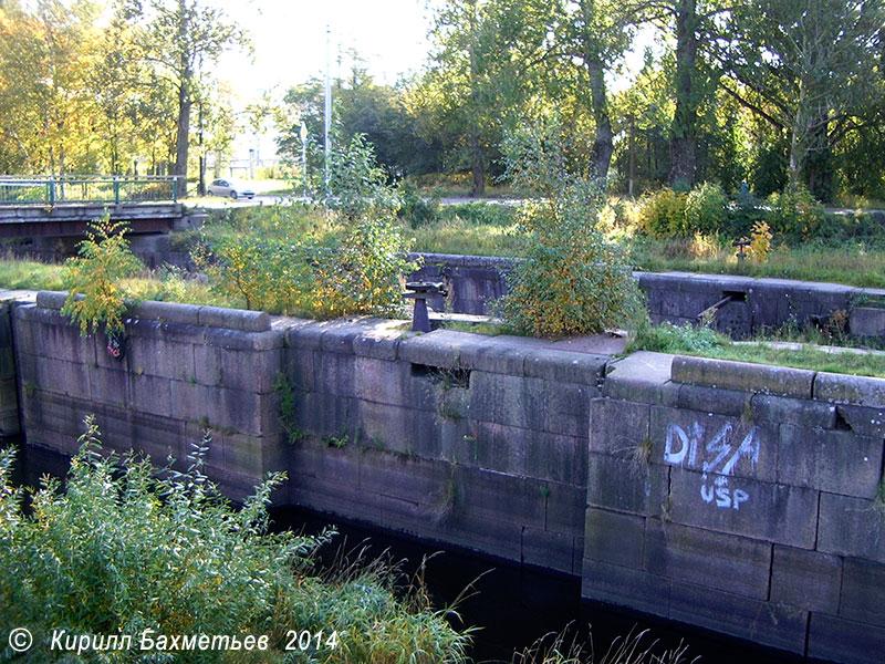 Шлюзы на Екатерининском устье Староладожского канала