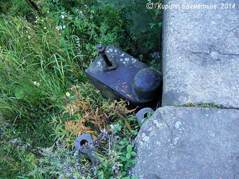 Остатки нижних ворот шлюза на Екатерининском устье Староладожского канала