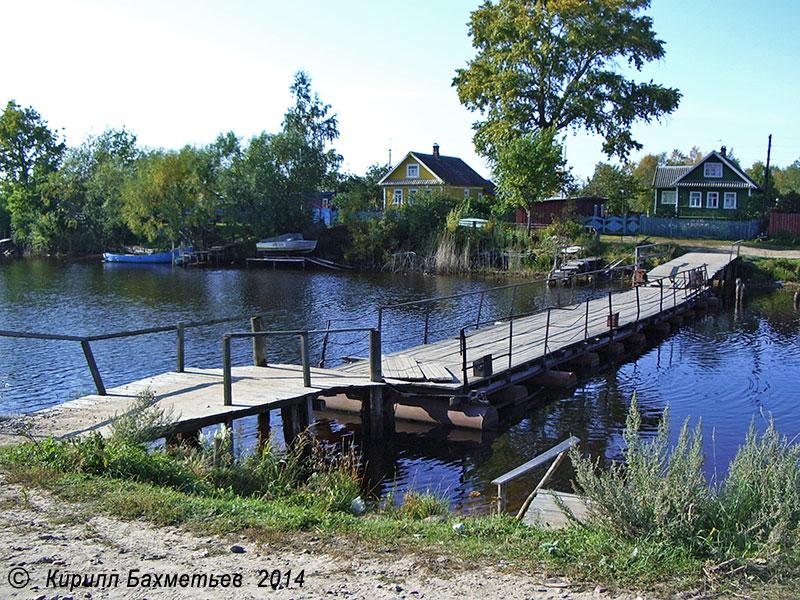 Наплавной мост через Новоладожский канал