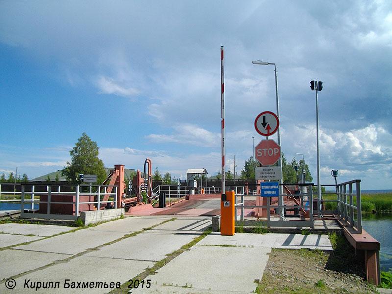 Наплавной мост через Онежский канал